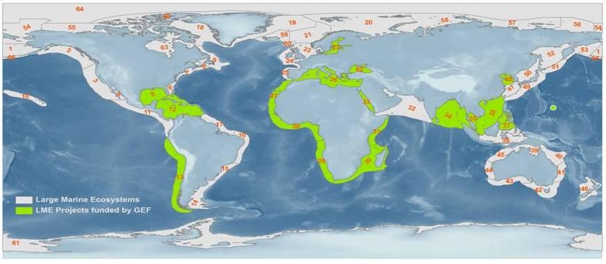 LMEs map